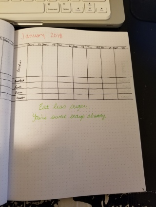 Weekly layout for January